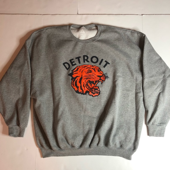 size 40 094d7 6e809 Detroit Tigers Crewneck Sweatshirt men's 3X 4X